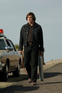Anton Chigurh with his cattle shocker