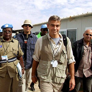 george clooney in a safari vest
