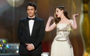 James Franco and Anne Hathaway host the Oscars.