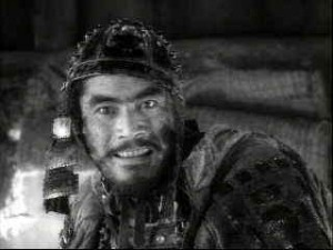 Toshiro Mifune delivers a great performance in Kurosawa's Seven Samurai.