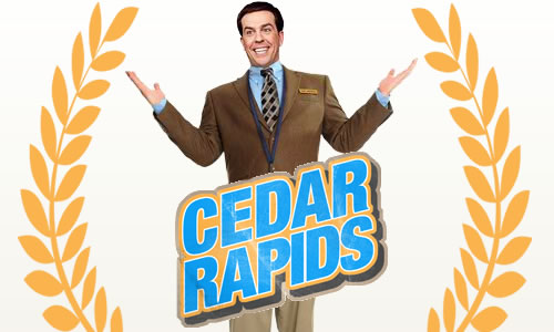 Cedar Rapids is a character piece. Not just a screwball comedy, though it is that.