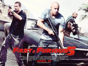 Fast Five (alternatively known as Fast & Furious 5 or Fast & Furious 5: Rio Heist is a 2011 action film written by Chris Morgan and directed by Justin Lin.
