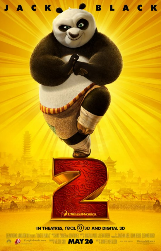 Kung Fu Panda 2 is a 2011 3D American computer-animated action comedy film and the sequel to the 2008 film Kung Fu Panda.