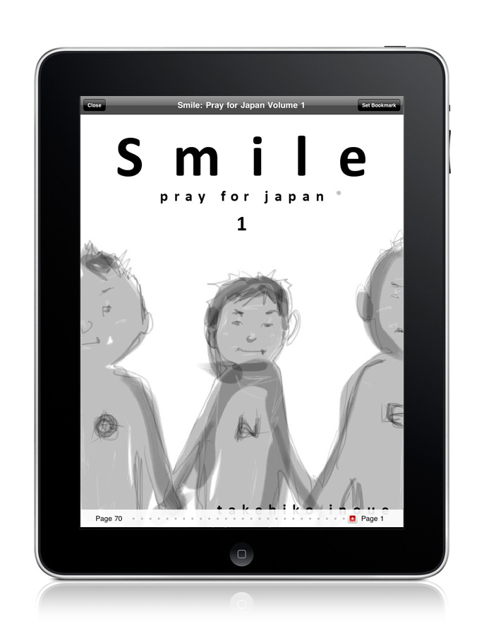 Viz Media has just announced that Takehiko Inoue's newest Smile series of illustrations is available for download on your iPhone, iPod Touch and iPad with all profits going towards the Japan Earthquake disaster relief.